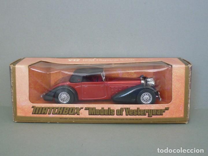 Coches a escala: Matchbox Lesney Yesteryear Nº17 1938 Hispano Suiza. Con su Caja Original. Producido 1973. - Foto 8 - 206363802