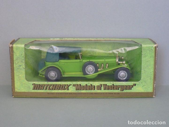 Coches a escala: Matchbox Lesney Yesteryear Nº16, 1928 Mercedes SS Coupe. Con su Caja Original. Producido 1973. - Foto 7 - 206365907