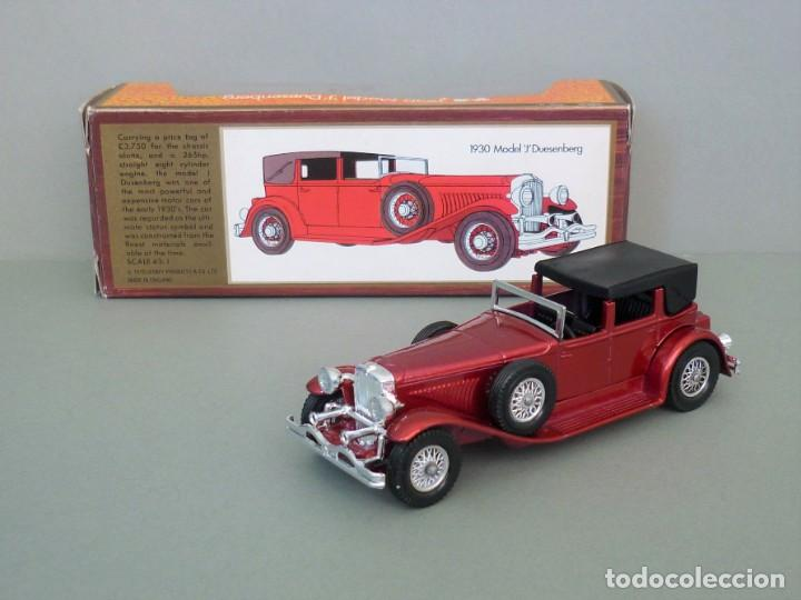 Coches a escala: Matchbox Lesney Yesteryear NºY4-4, 1930 Model J Duesenberg. Con su Caja Original. Producido en 1975. - Foto 1 - 206428211