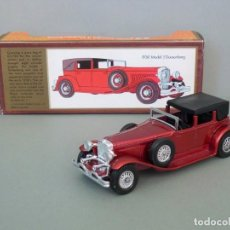Coches a escala: MATCHBOX LESNEY YESTERYEAR NºY4-4, 1930 MODEL J DUESENBERG. CON SU CAJA ORIGINAL. PRODUCIDO EN 1975.. Lote 206428211