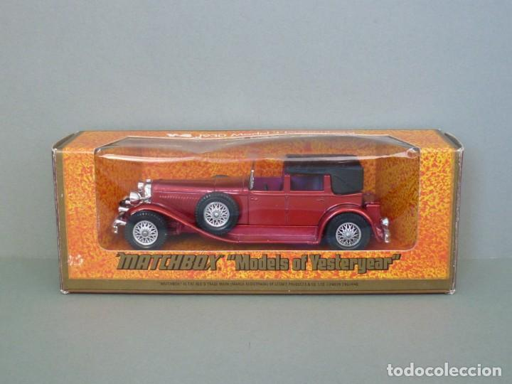 Coches a escala: Matchbox Lesney Yesteryear NºY4-4, 1930 Model J Duesenberg. Con su Caja Original. Producido en 1975. - Foto 2 - 206428211