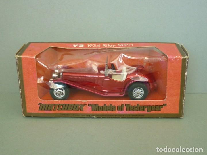 Coches a escala: Matchbox Lesney Yesteryear NºY3-3, 1934 Riley MPH. Con su Caja Original. Producido en 1973. - Foto 10 - 206429963