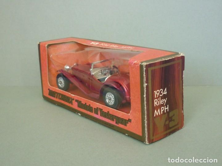 Coches a escala: Matchbox Lesney Yesteryear NºY3-3, 1934 Riley MPH. Con su Caja Original. Producido en 1973. - Foto 11 - 206429963