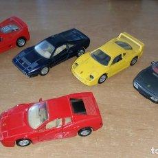 Coches a escala: 5 FERRARI GTO 348 512 F40 F50 MAISTO SHELL A FRICCION 1:38. Lote 222011851