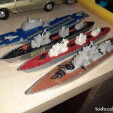 Coches a escala: MATCHBOX SEA KINGS.LESNEY ENGLAND 1976.LOTE DE 4 BARCOS DE GUERRA A ESCALA.. Lote 209894752