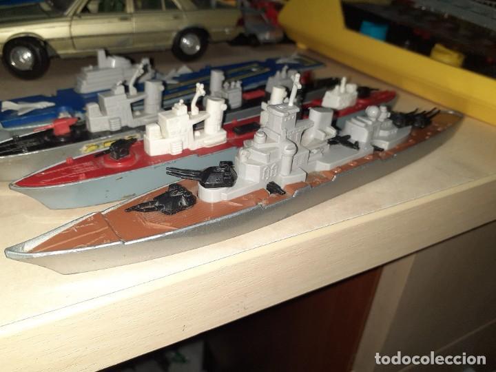 Coches a escala: Matchbox Sea Kings.Lesney England 1976.Lote de 4 barcos de guerra a escala. - Foto 2 - 209894752