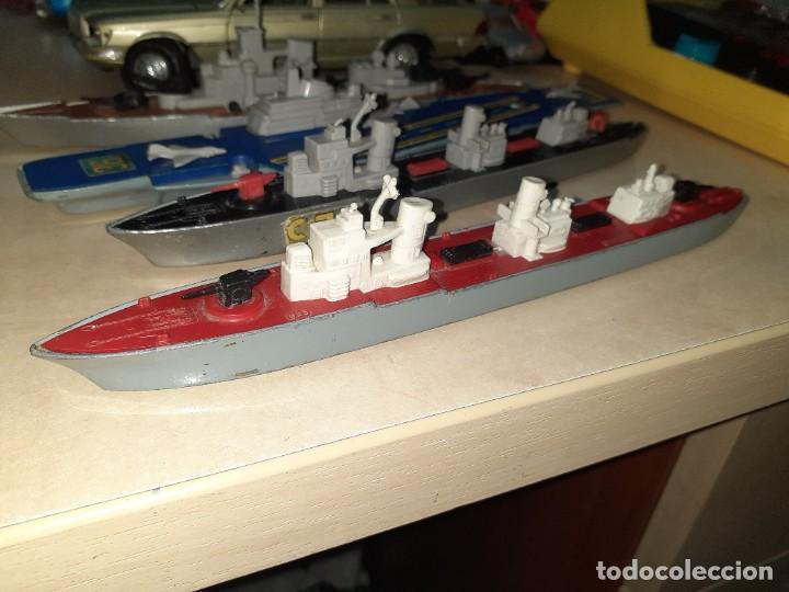 Coches a escala: Matchbox Sea Kings.Lesney England 1976.Lote de 4 barcos de guerra a escala. - Foto 3 - 209894752
