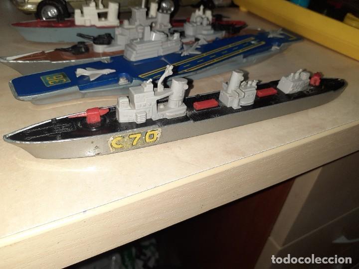 Coches a escala: Matchbox Sea Kings.Lesney England 1976.Lote de 4 barcos de guerra a escala. - Foto 4 - 209894752