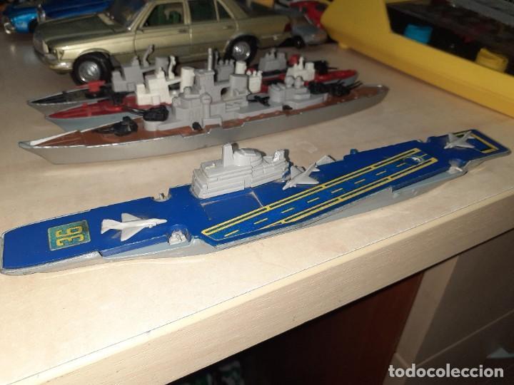 Coches a escala: Matchbox Sea Kings.Lesney England 1976.Lote de 4 barcos de guerra a escala. - Foto 5 - 209894752