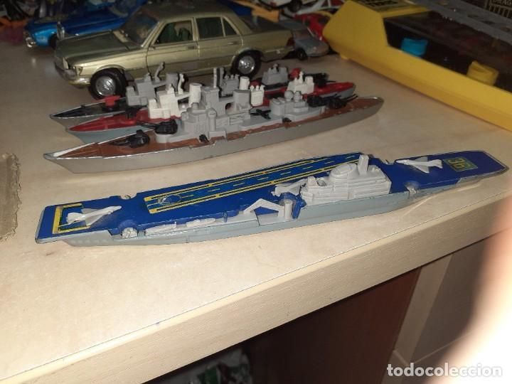 Coches a escala: Matchbox Sea Kings.Lesney England 1976.Lote de 4 barcos de guerra a escala. - Foto 6 - 209894752