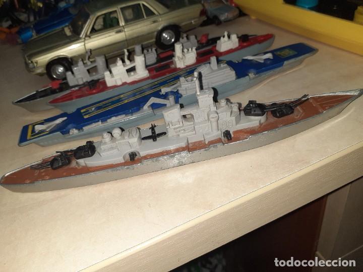 Coches a escala: Matchbox Sea Kings.Lesney England 1976.Lote de 4 barcos de guerra a escala. - Foto 7 - 209894752