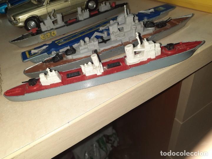 Coches a escala: Matchbox Sea Kings.Lesney England 1976.Lote de 4 barcos de guerra a escala. - Foto 8 - 209894752