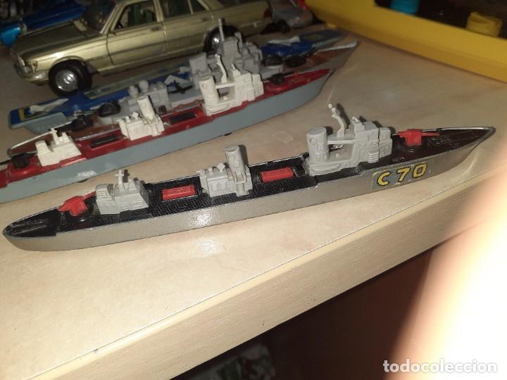 Coches a escala: Matchbox Sea Kings.Lesney England 1976.Lote de 4 barcos de guerra a escala. - Foto 9 - 209894752