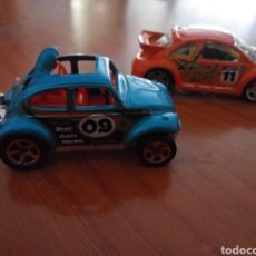 Coches a escala: VOLKSWAGEN NEW BEETLE HOT WHEELS. NEW BETTLE CUP Y NEW BEETLE MODIFICADO. Lote 209943275