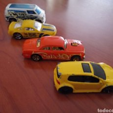 Coches a escala: COCHECITO HOT WHEELS GOLF GTI FORD MUSTANG GT DODGE VAN CUSTOM 77.. Lote 209944016