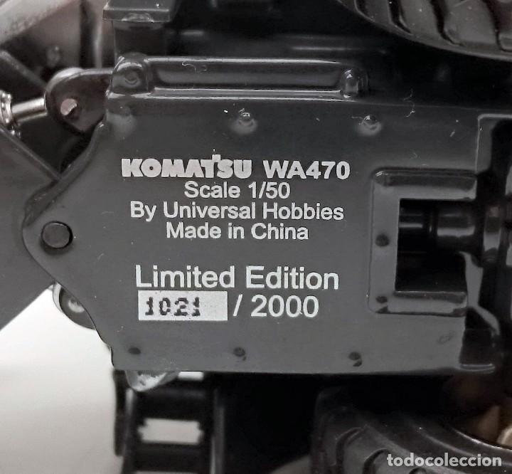 Coches a escala: UNIVERSAL HOBBIES KOMATSU WA 470 CHROME - SERIE LIMITADA Nº 1021 / 2000 - DESCATALOGADA - Foto 10 - 209979670