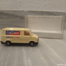 Coches a escala: COCHE MINIATURA CINZANO FIAT DUCATO 1/87 / BUSCH. Lote 210401338