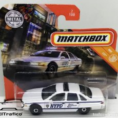 Coches a escala: MATCHBOX CHEVROLET CHEVY CAPRICE CLASSIC POLICE, TIPO HOT WHEELS 1:64 // (18). Lote 210424245