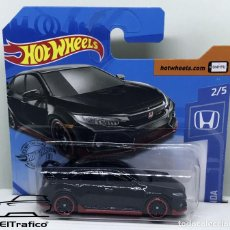 Coches a escala: HOT WHEELS HONDA CIVIC TYPE R 18 NEGRO 1:64 HOTWHEELS 2020 // (2). Lote 210424617