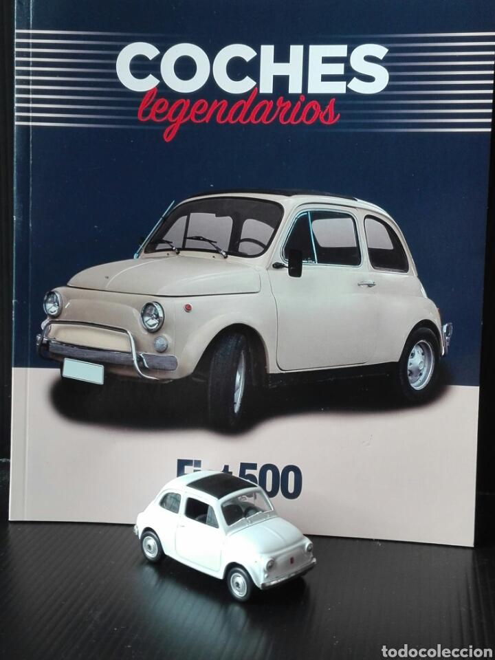 -FIAT 500 - COCHES LEGENDARIOS -MINIATURA1/60 APROX +LIBRETO DE HISTORIA Y FICHA DEL MODELO 24 PAG (Juguetes - Coches a Escala Otras Escalas )