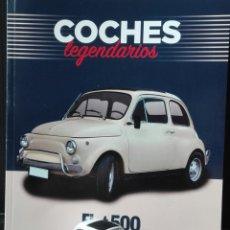 Coches a escala: -FIAT 500 - COCHES LEGENDARIOS -MINIATURA1/60 APROX +LIBRETO DE HISTORIA Y FICHA DEL MODELO 24 PAG. Lote 210547757