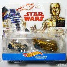Coches a escala: HOT WHEELS STAR WARS R2-D2 & C-3PO (2017) HOTWHEELS MATTEL. Lote 211489059
