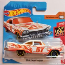 Coches a escala: HOT WHEELS '57 PLYMOUTH FURY. HW FLAMES 2/10 (2). Lote 211900766