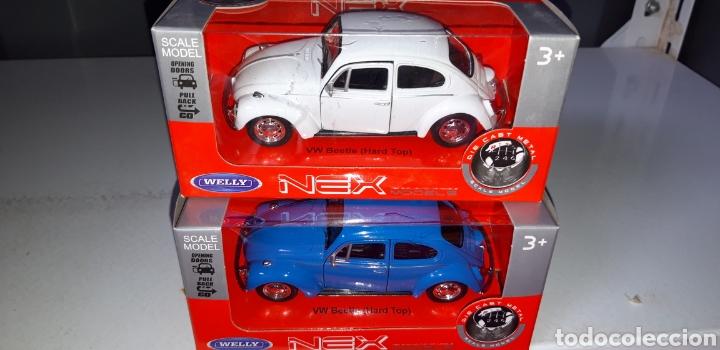VW Volkswagen New Beetle Coupé a partir de 2011 blanco ca 1//43 1//36-1//46 Welly modelo coche