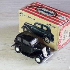 Coches a escala: FIAT BALILLA Nº 93, PLÁSTICO ESC 1/86 H0, ANGUPLAS MINI-CARS SPAIN, ORIGINAL 1962. CON CAJA.. Lote 213248902