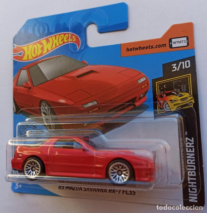 Coches a escala: HOT WHEELS 89 MAZDA SAVANNA RX-7 FC3S. NIGHTBURNERZ 3/10 (1) - Foto 2 - 214286702