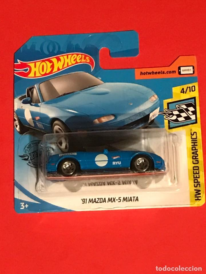 Hot Wheels HW Speed Graphics /'91 MAZDA MX-5 MIATA 4//10 184//250 Red