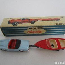 Coches a escala: SEAT SERRA SPORT DESCAPOTADO CON CANOA - ANGUPLAS, MINI CARS - 1/86 - CON CAJA. Lote 218125970