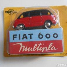 Coches a escala: COCHE FIAT 600 MULTIPLA MERCURY HACHETTE 1/48 1:48 MODEL CAR MINIATURE SEAT. Lote 218677918