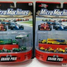 Carros em escala: LOTE 2 MICROMACHINES GRAND PRIX. NUEVOS EN BLISTER. RACING. HASBRO. 2000. 5 Y 6. MUNDO DE CARRERAS.. Lote 220624815