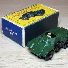 Coches a escala: FERRET ARMY SCOUT CAR TANQUETA REF. 61, METAL ESC. 1/87. LESNEY MATCHBOX ENGLAND, ORIGINAL AÑO 1961.. Lote 220737496