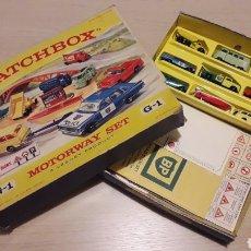Coches a escala: VW CAMPER, ZEPHYR...MOTORWAY SET G-1, ESC. APROX. 1/64, LESNEY MATCHBOX ENGLAND, AÑO 1965. CON CAJA.. Lote 221562123