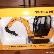 Coches a escala: JOAL,JCB 8016,MINI EXCAVATOR WITH HYDR. HAMMER 1/25,LLÉVATE 30 EUROS Y ENVÍO CERT. GRATIS !!!. Lote 221701930