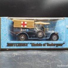 Coches a escala: MATCHBOX MODELS YESTERYEAR. Y-13 1918 CROSSLEY RAF TENDER. Lote 222010003