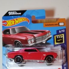 Coches a escala: HOT WHEELS 70 CHEVELLE SS - FAST & FURIOUS - SCREEN TIME. Lote 222013950