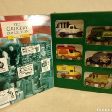 Coches a escala: CAJA DIECAST CON 6 VINTAGE DIE CAST VEHICULOD.THE GROCERY COLLECTION. Lote 222254072