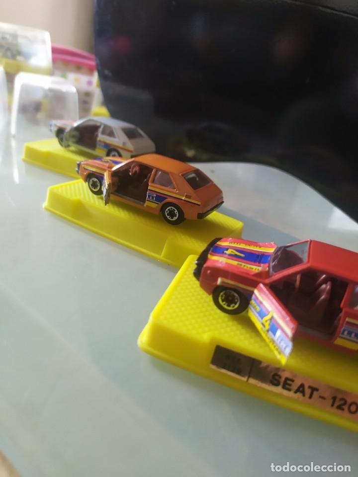 Coches a escala: Lote de 3 coches marca mira Made in spain con caja original seat 1200 taxi - Foto 4 - 222342401