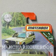 Coches a escala: MATCHBOX MERCEDES BENZ W123 WAGON VERDE COLECCION MBX ROAD TRIP 9/20 COCHE MINIATURA ESCALA 1/64. Lote 238520120