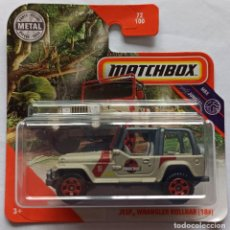 Coches a escala: JURASSIC PARK. MATCHBOX JEEP WRANGLER ROLLBAR (18#). JURASSIC PARK (3). Lote 223335155