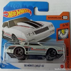 Auto in scala: HOT WHEELS 86 MONTE CARLO SS. MUSCLE MANIA 6/10. Lote 224330105