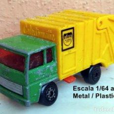 Coches a escala: MATCHBOX CAMION DE BASURA / MUY USADO Y CON DEFECTOS. Lote 224395658