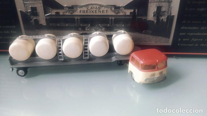 Coches a escala: Miniaturas eko escala 1:88 h0 primeras series Mercedes camión transporte leche lechera - Foto 2 - 224979880