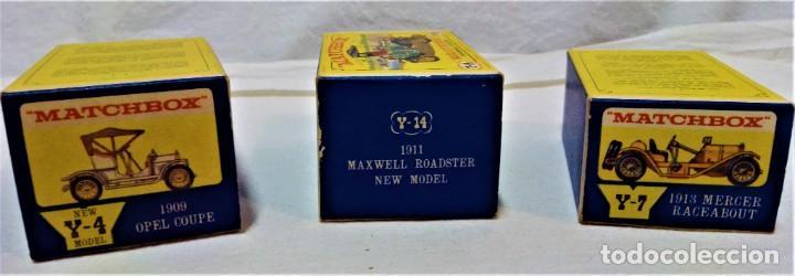 Coches a escala: LOTE 3 MODELOS COCHES ANTIGUOS MATCHBOX.Y4,Y7,Y14.EN SUS CAJAS.VER DESCRIPCIÓN Y FOTOGRAFIAS. - Foto 3 - 232858550