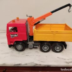 Coches a escala: CAMION GRUA-BRUDER,MADE IN GERMANY. Lote 236445745