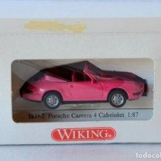 Auto in scala: WIKING ESCALA 1:87 H0 PORSCHE CARRERA 4 DESCAPOTABLE CON CAJA. Lote 240796740