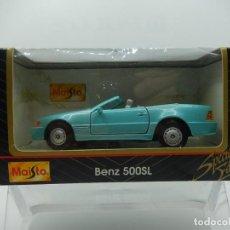 Coches a escala: MERCEDES BENZ 500SL. MAISTO. FABRICADO EN CHINA POR MAY TAT TOY. ESCALA 1/40.. Lote 241505170